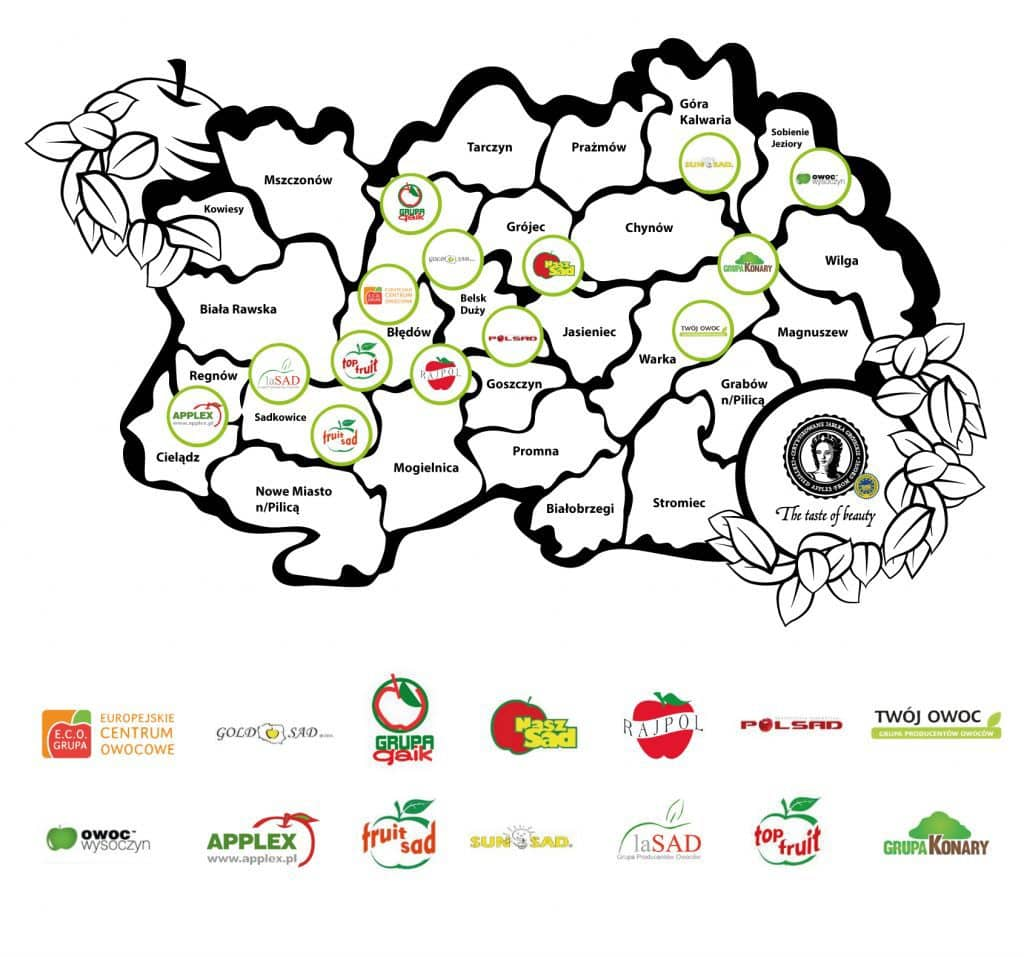 polish orchards grojeckie map