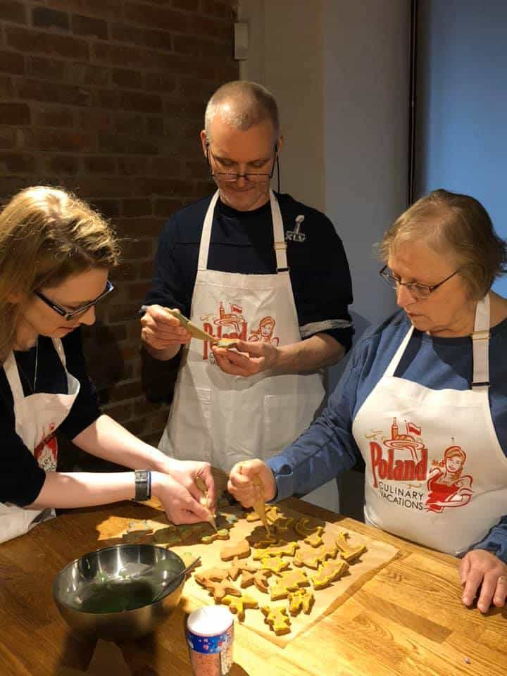 Christmas cooking baking class with Poland Culinary Vacations in Krakow