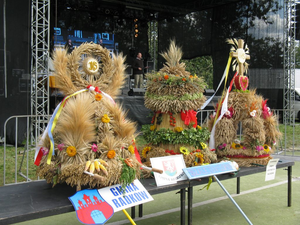 Creative wreaths at Harvest Festival in Lower Silesia, Poland.